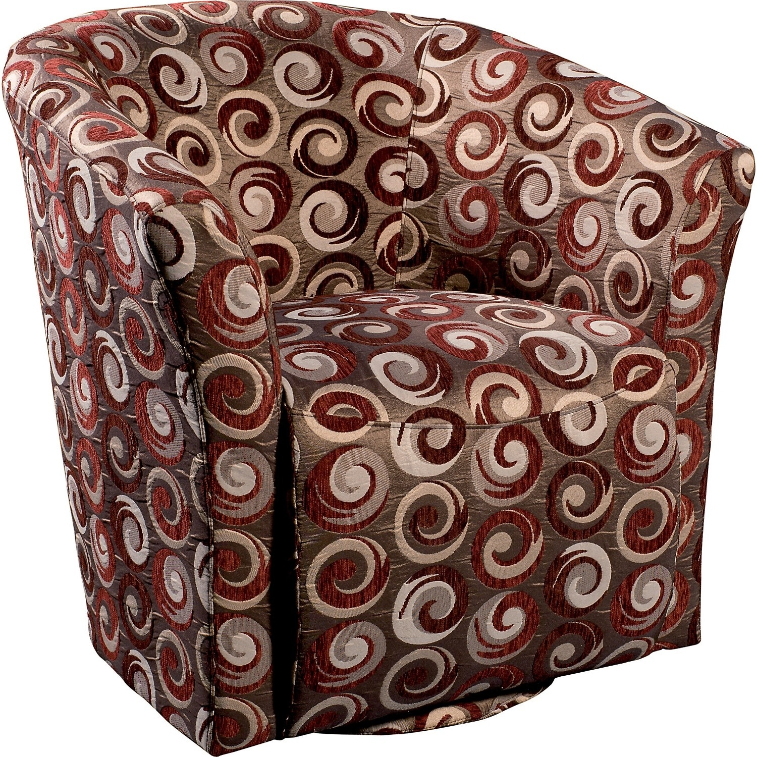 Living Room Furniture - Wyatt Accent Fabric Swivel Tub Chair