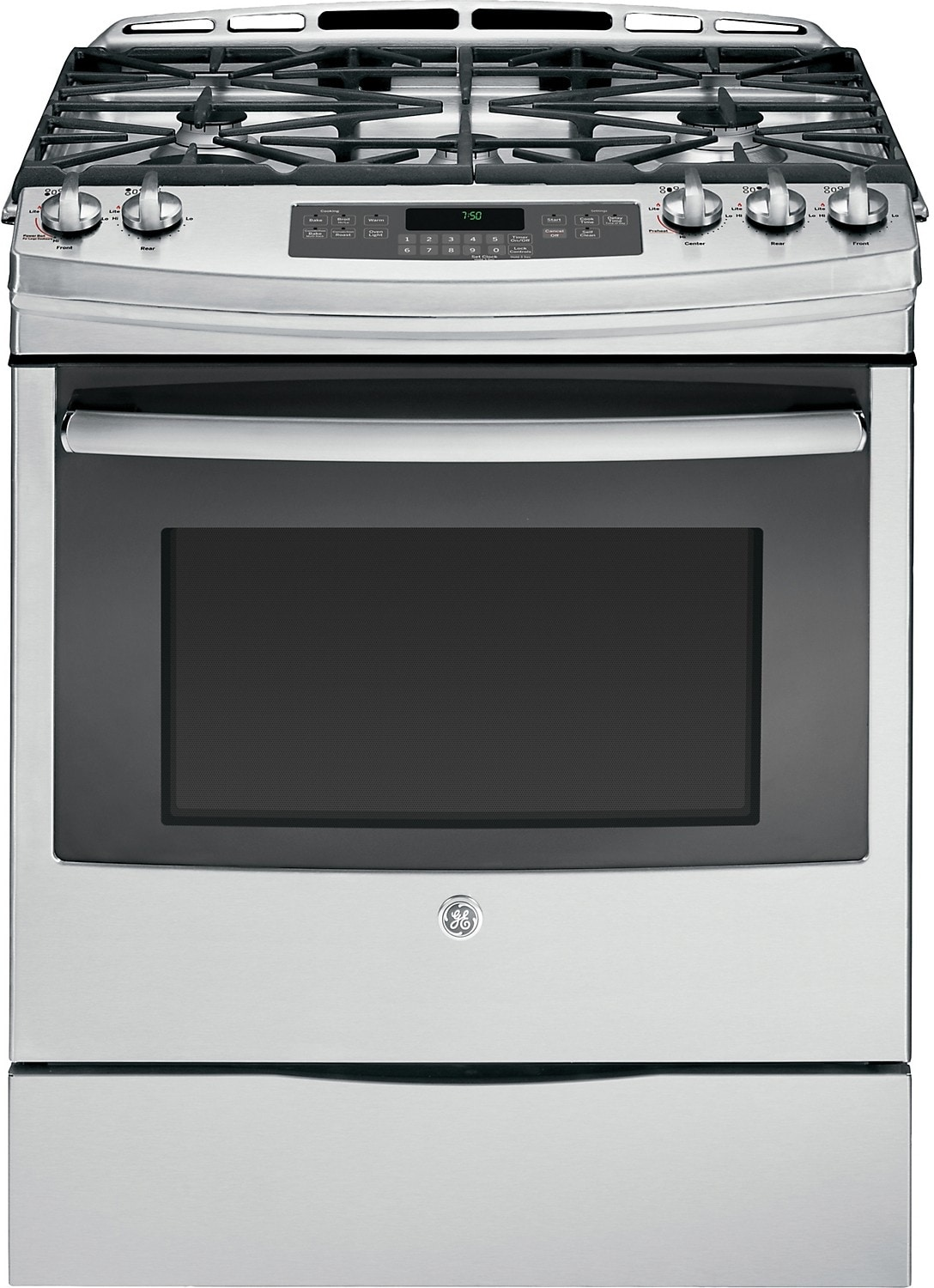 "GE 30"" Self-Cleaning Gas Convection Range – Stainless Steel"
