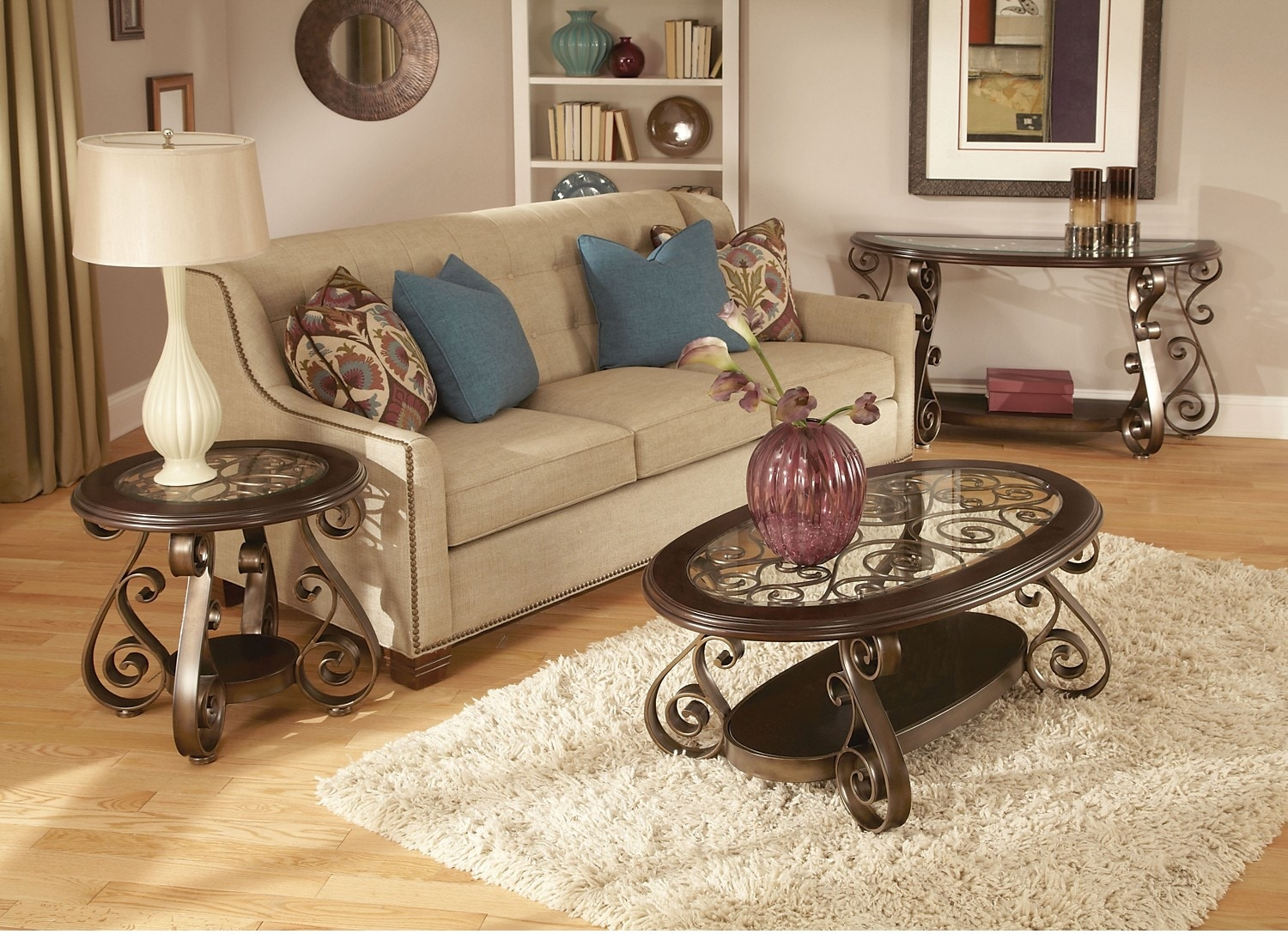 High Quality Bombay 3 Piece Coffee, End And Sofa Table Package | United Furniture  Warehouse