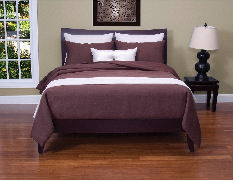 ensemble d accessoires pour tr s grand lit 1 jet et 2 couvre oreillers cr me brick. Black Bedroom Furniture Sets. Home Design Ideas