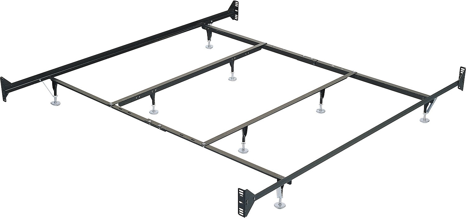 King Metal Glide Bedframe w/ Headboard/Footboard Attachment