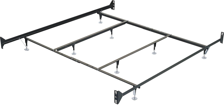 king metal glide bedframe w headboardfootboard attachment - Metal King Bed Frame