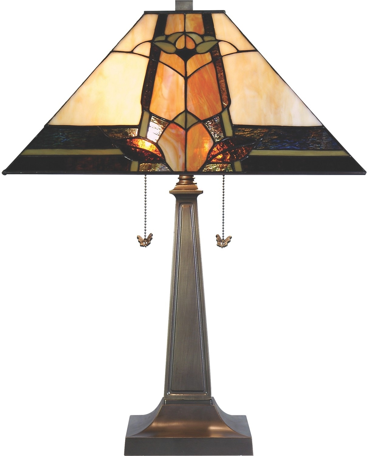 Home Accessories - Marlow Table Lamp with Stained Glass Shade