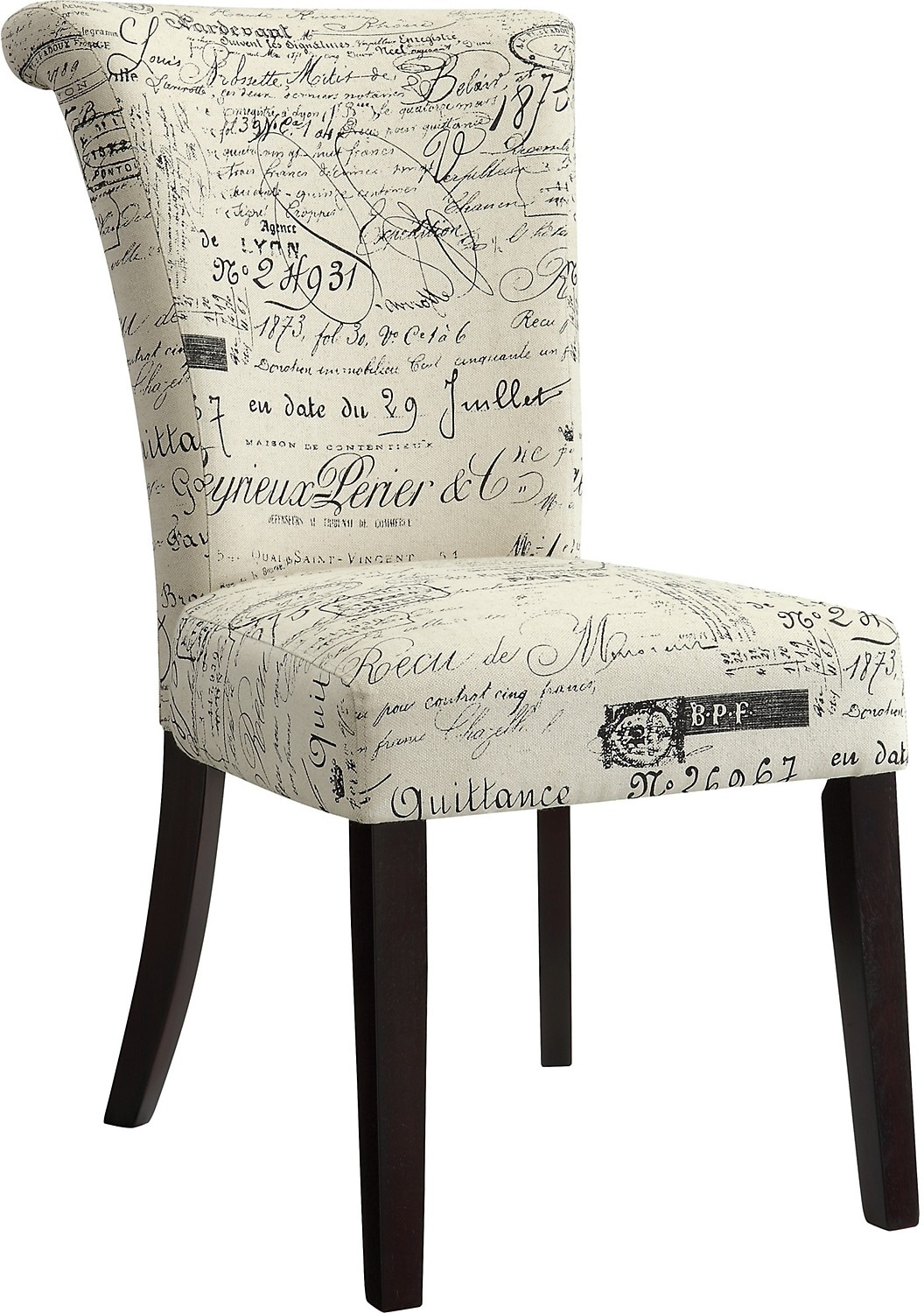 Dining Room Furniture - French Script Accent Dining Chair