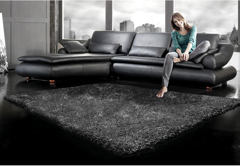 Loft Charcoal Shag Area Rug – 7' x 10'