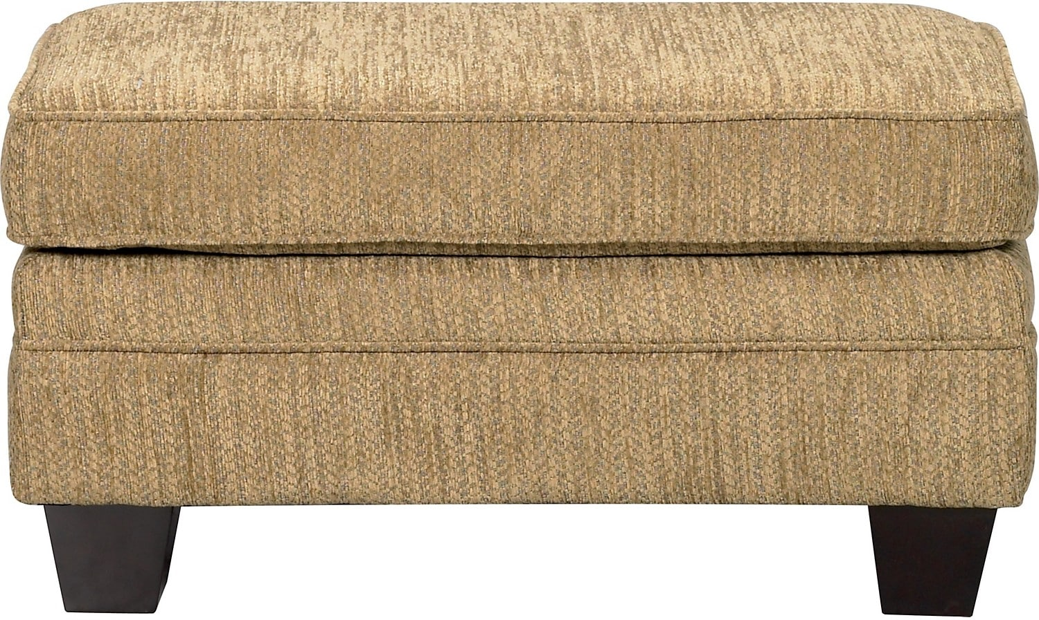 Living Room Furniture - Allen Chenille Ottoman – Taupe