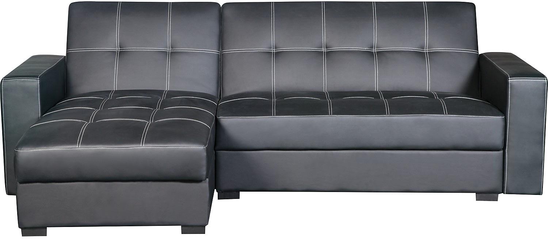 sofa bed canada ~ belize 2piece storage futon with chaise  black  the bri