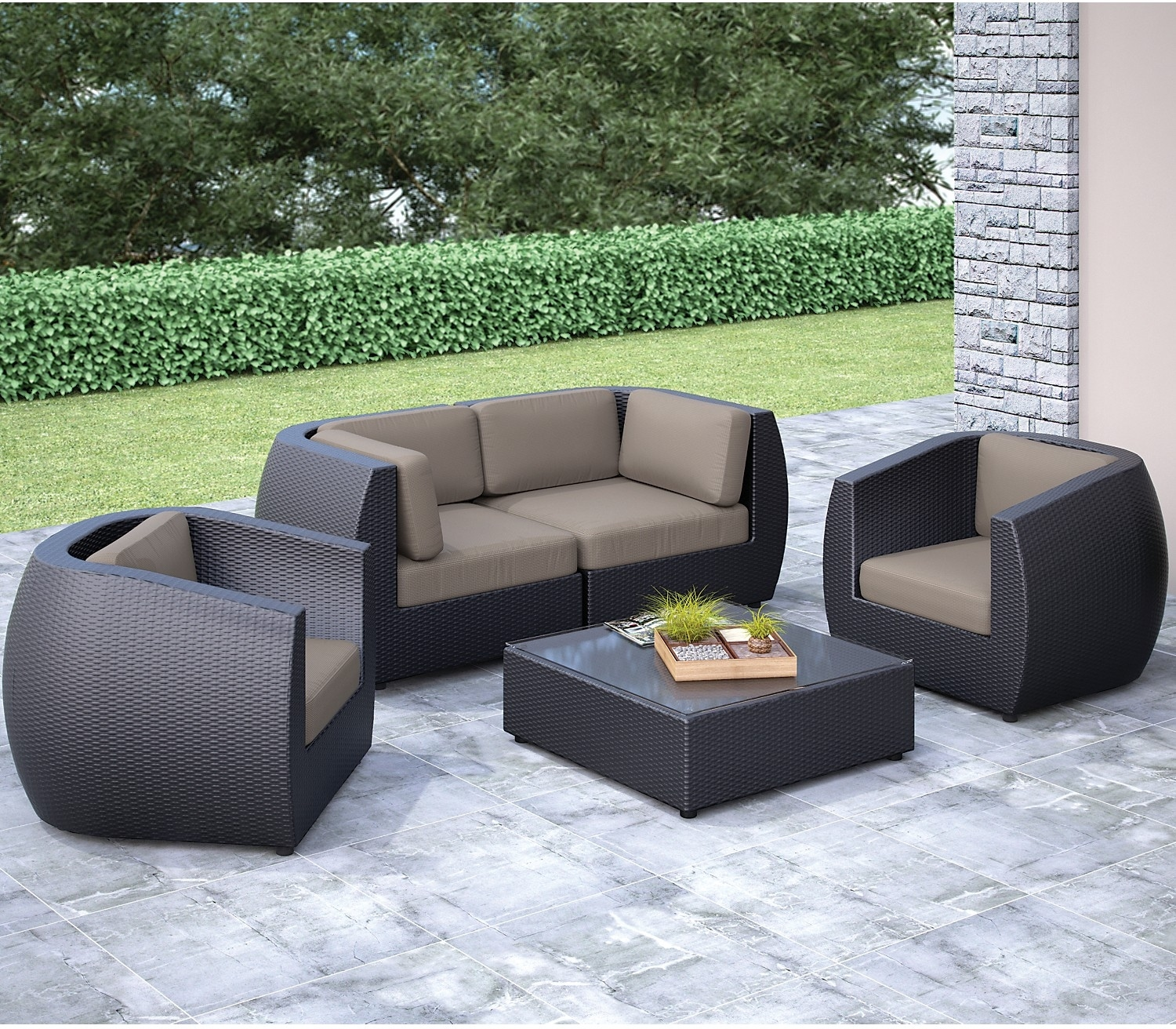 Outdoor Furniture - Seattle Conversation Patio Set - Loveseat