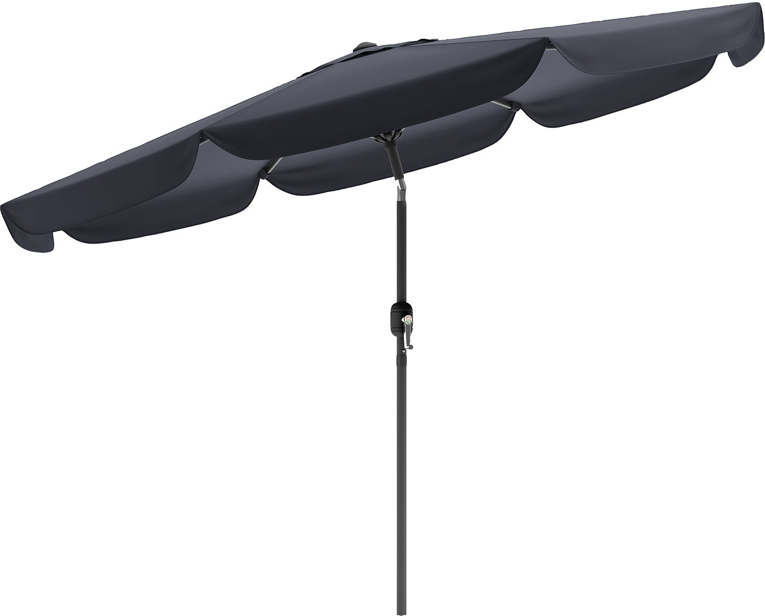 Tilting-Top Patio Umbrella - Black