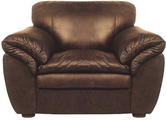 Living Room Furniture - Brown 100% Genuine Leather Chair