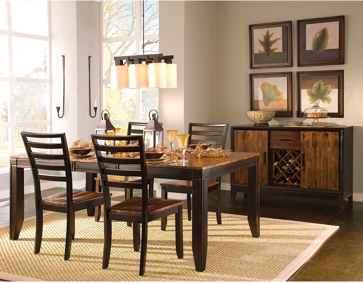 Dining Room Furniture - Zara 5-Piece Dining Package