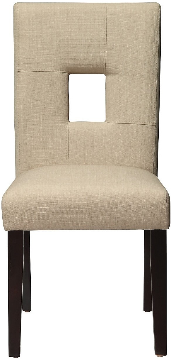 McKena Linen-Look Chair - Beige