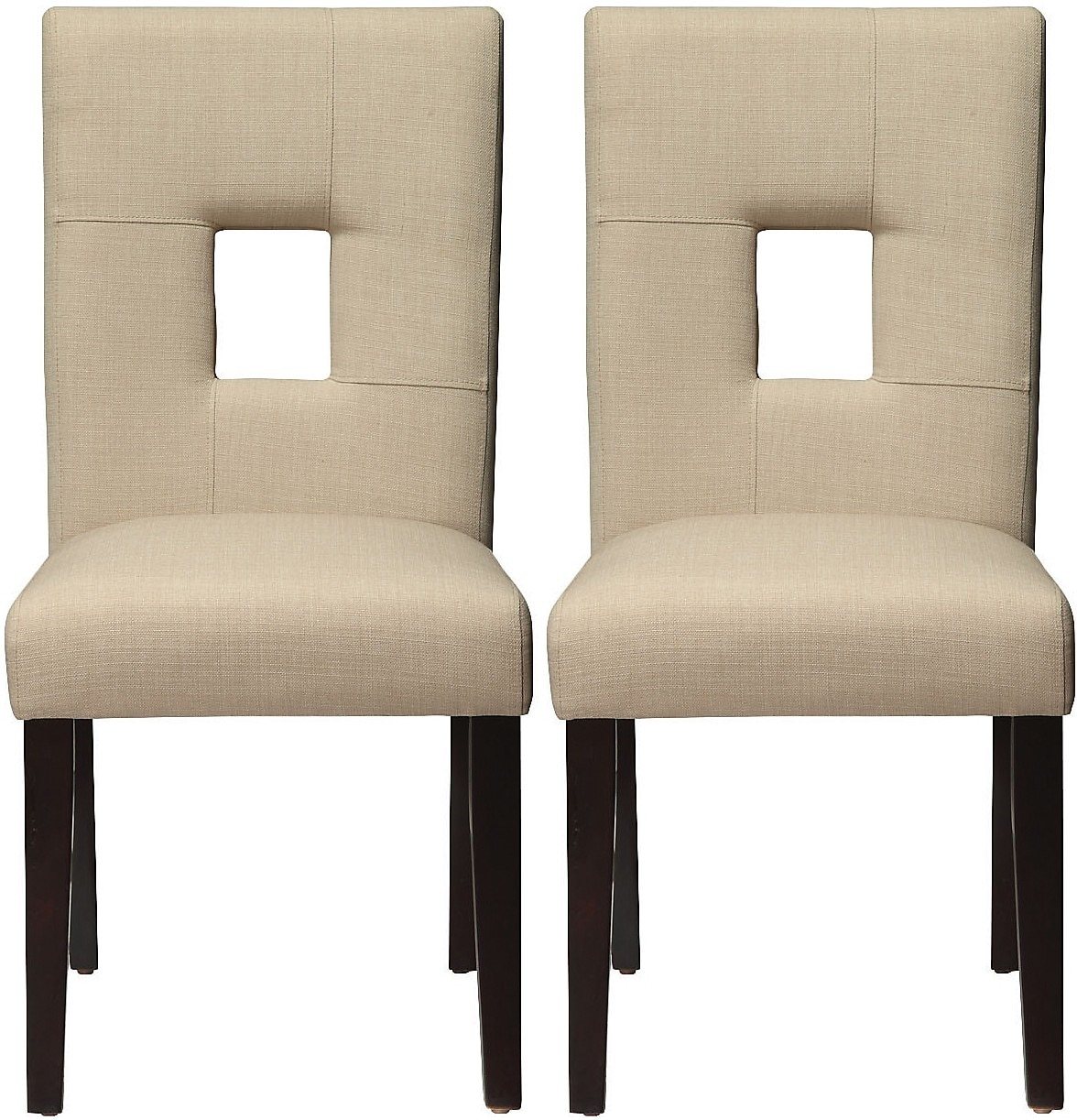 mckena 2 pack linen dining chair beige the brick