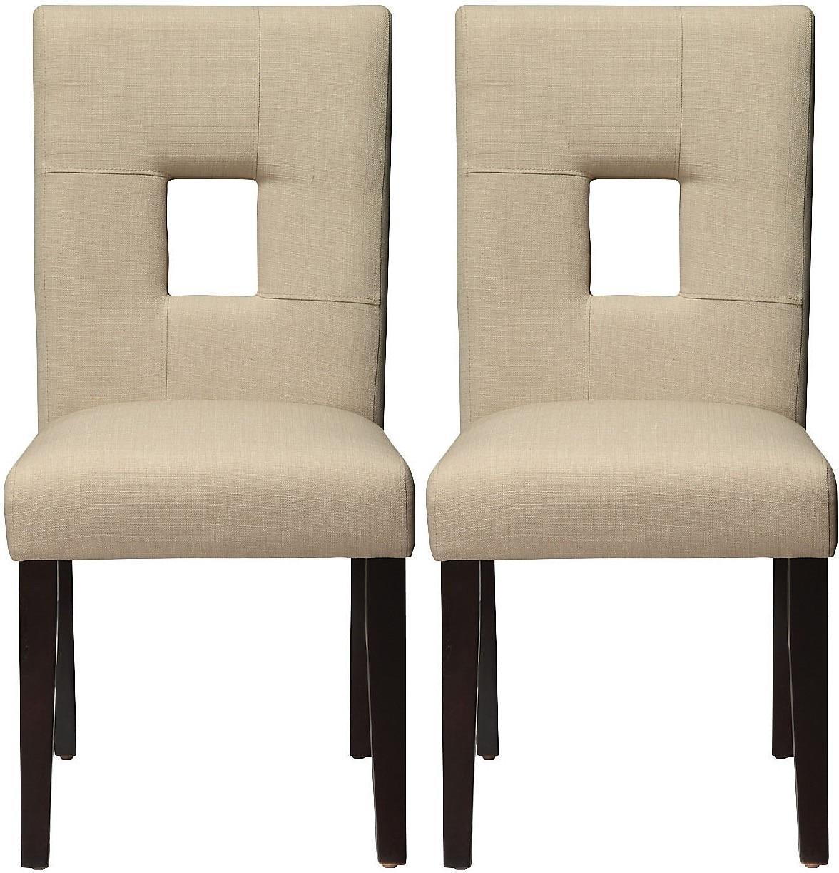 McKena 2-Pack Linen Dining Chair – Beige