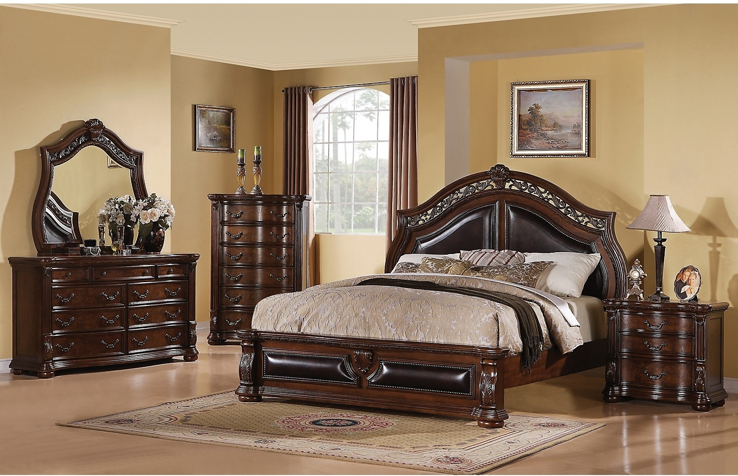 Morocco 8 piece queen bedroom package the brick for Cheap bedroom furniture packages