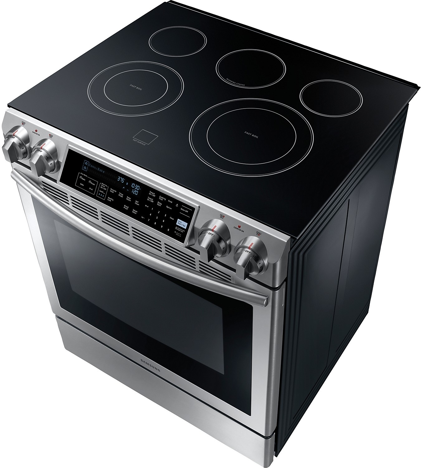 Samsung 5 8 Cu Ft Slide In Electric Range Stainless