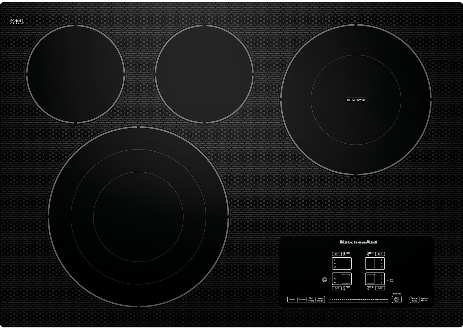 "KitchenAid Architect® Series II 30"" 4-Element Electric Cooktop – Black"