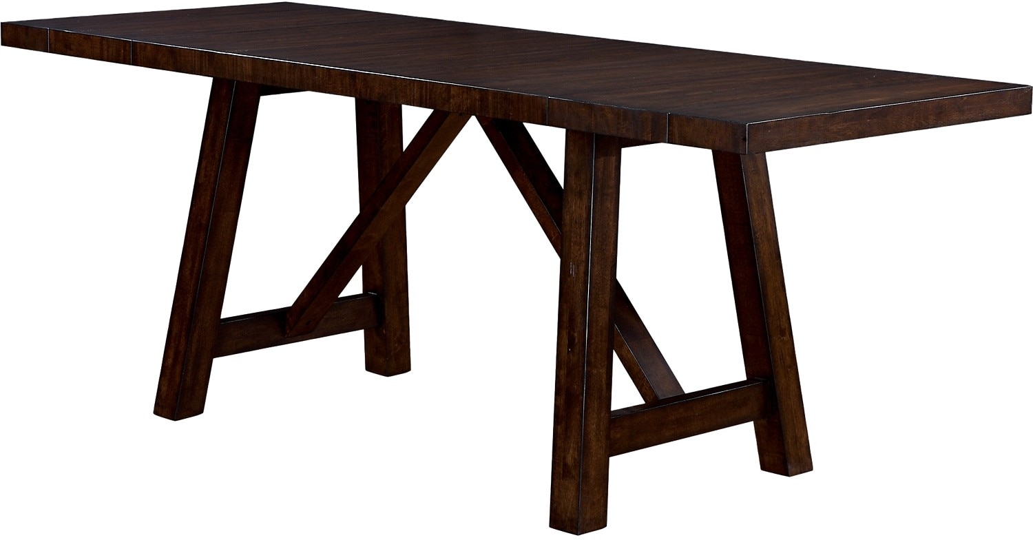 Adara counter height dining table the brick for Tall dining table