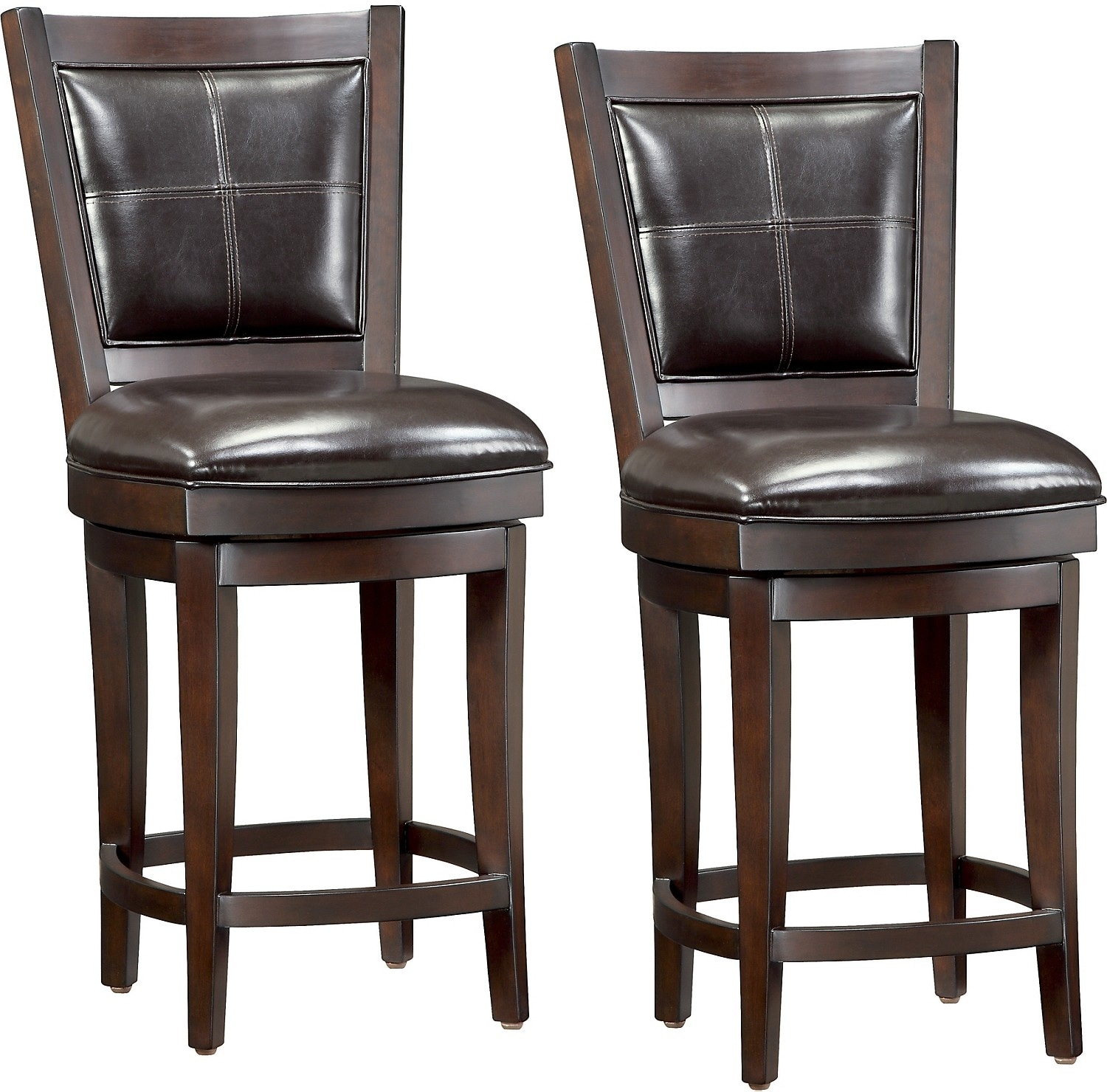 "Dining Room Furniture - Chase 24"" Bar Stools, Set of 2"