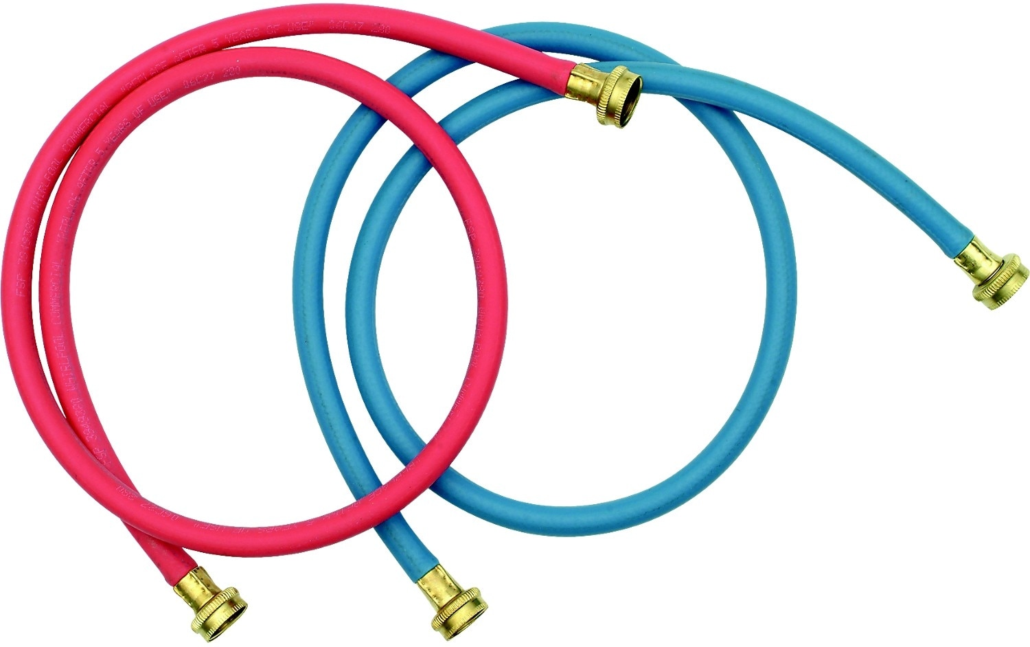 Washers and Dryers - 5' Commercial Grade Washer Hoses - 2 Pack