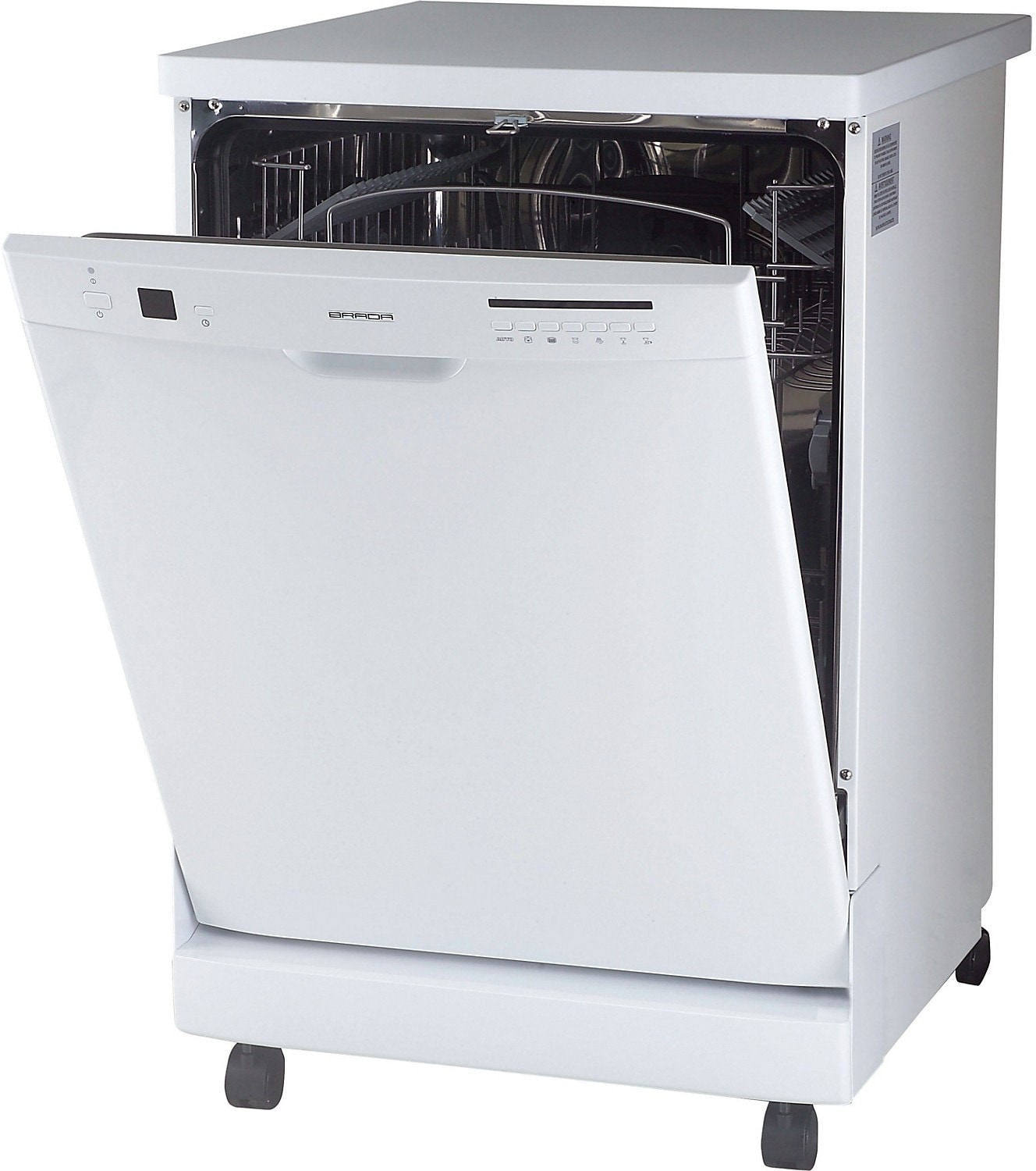 "Clean-Up - Brada 24"" Portable Dishwasher - White"