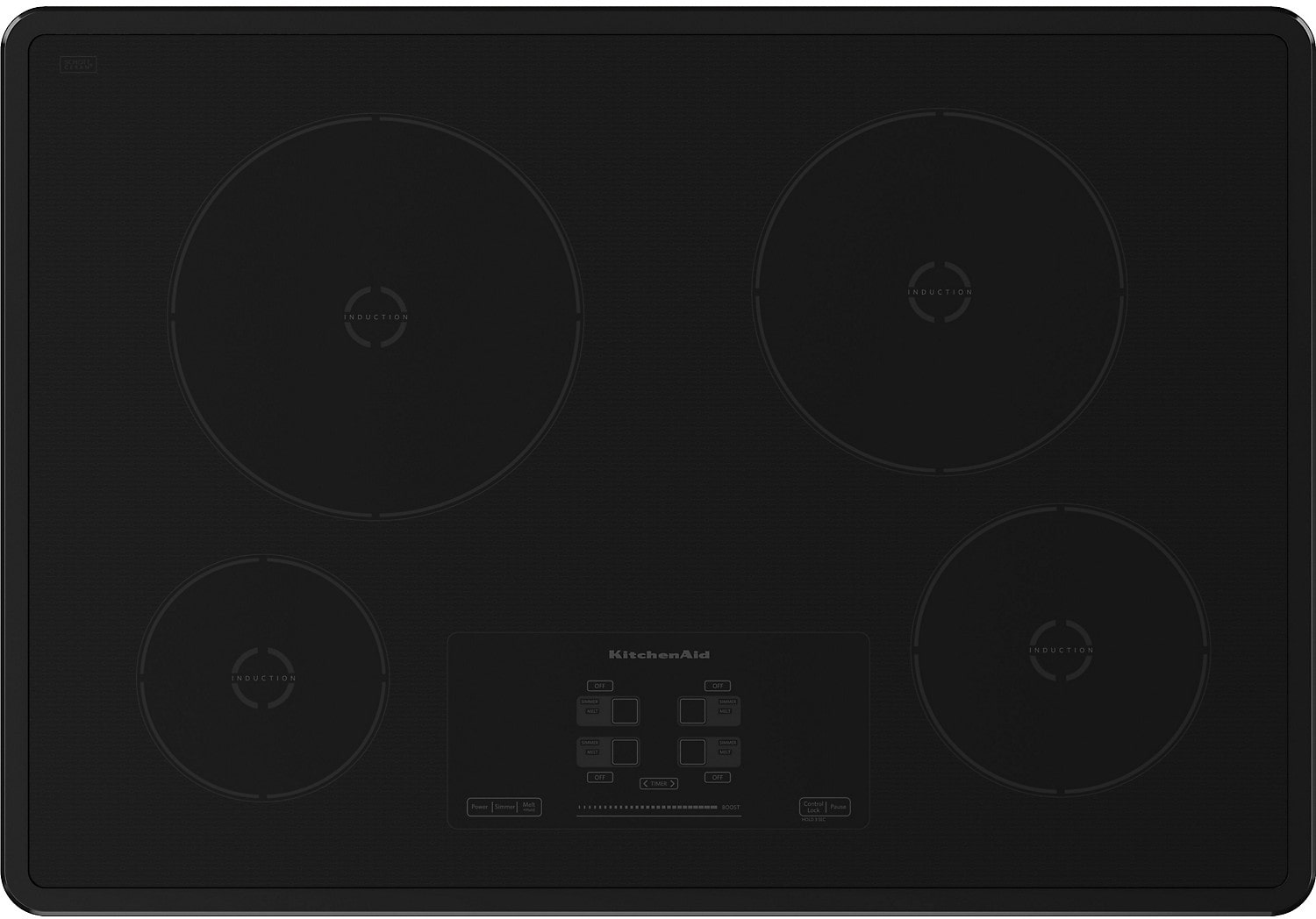 "Cooking Products - 30"" KitchenAid Architect® Series II Induction Cooktop w/ 4 Elements - KICU500XBL"
