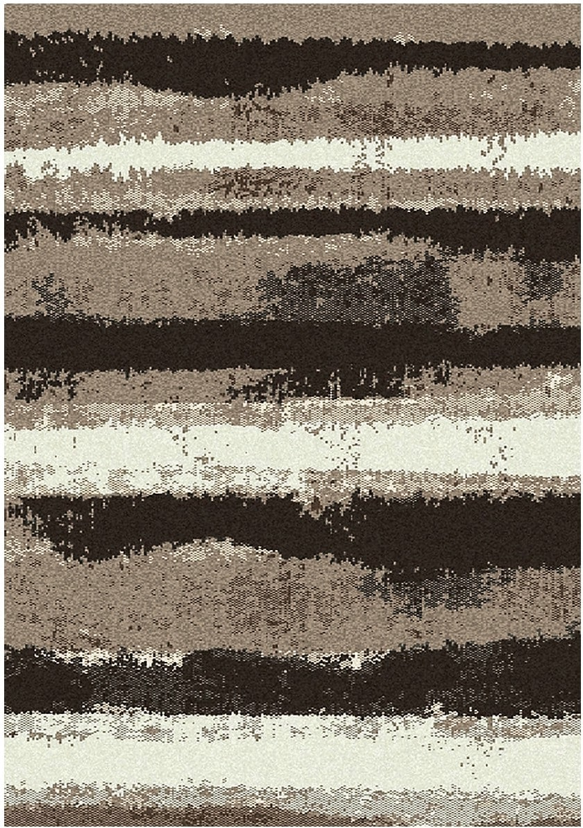 Rugs - Sydney Mocha and Cream Area Rug – 5' x 8'