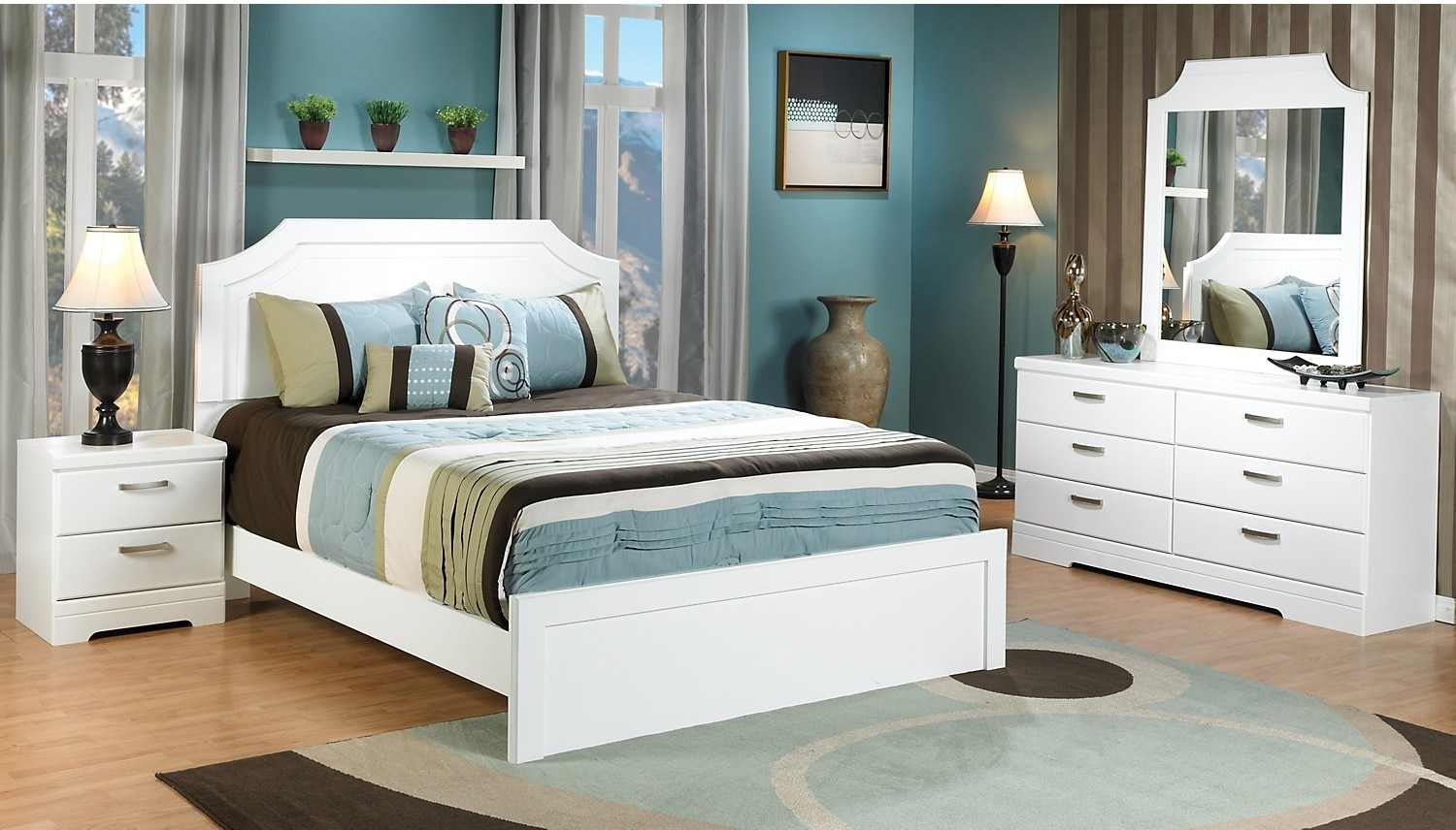 Bedroom Furniture - Bianco 6-Piece Queen Bedroom Package
