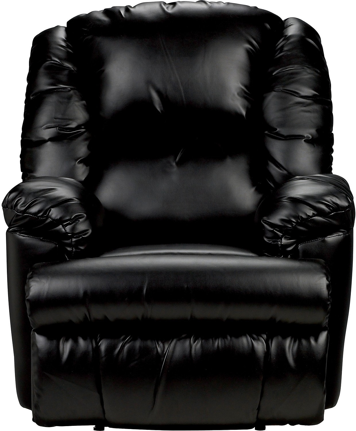 Living Room Furniture - Bmaxx Bonded Leather Power Reclining Chair – Black