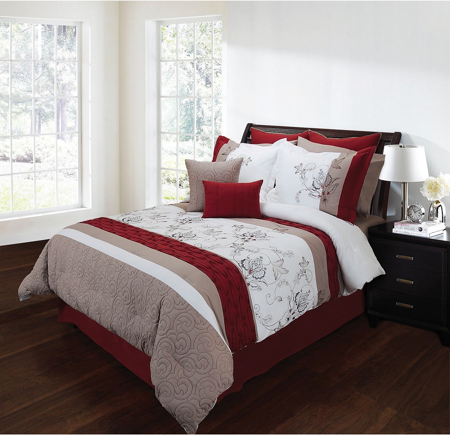 Mattresses and Bedding - Eloise 8-Piece King Comforter Set