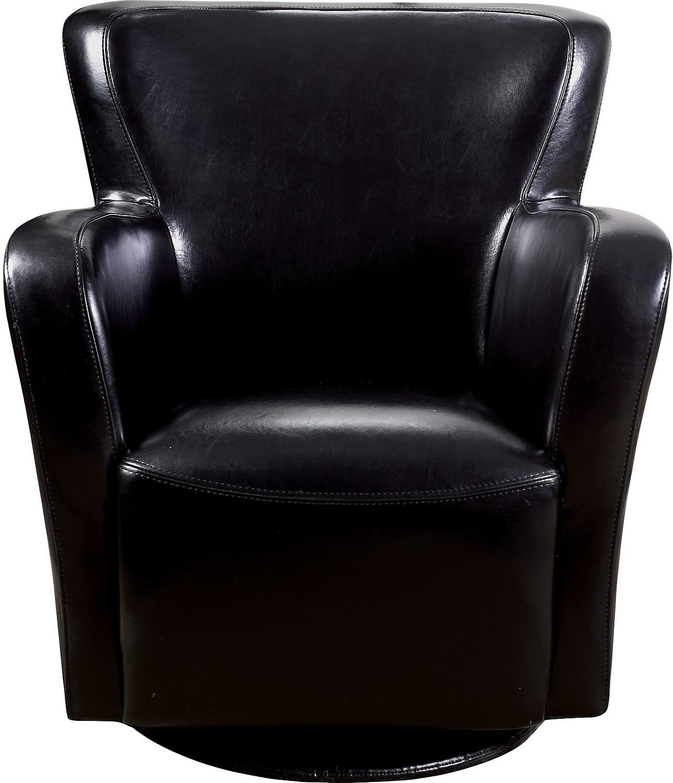 Bonded Leather Swivel Chair Black