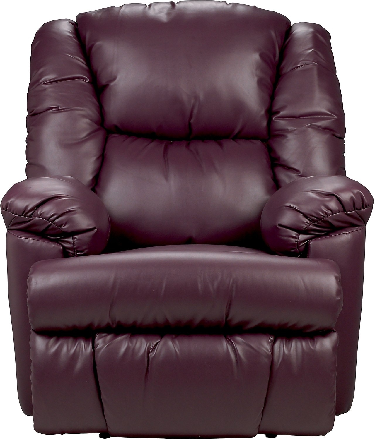 Bmaxx Bonded Leather Power Reclining Chair Purple The