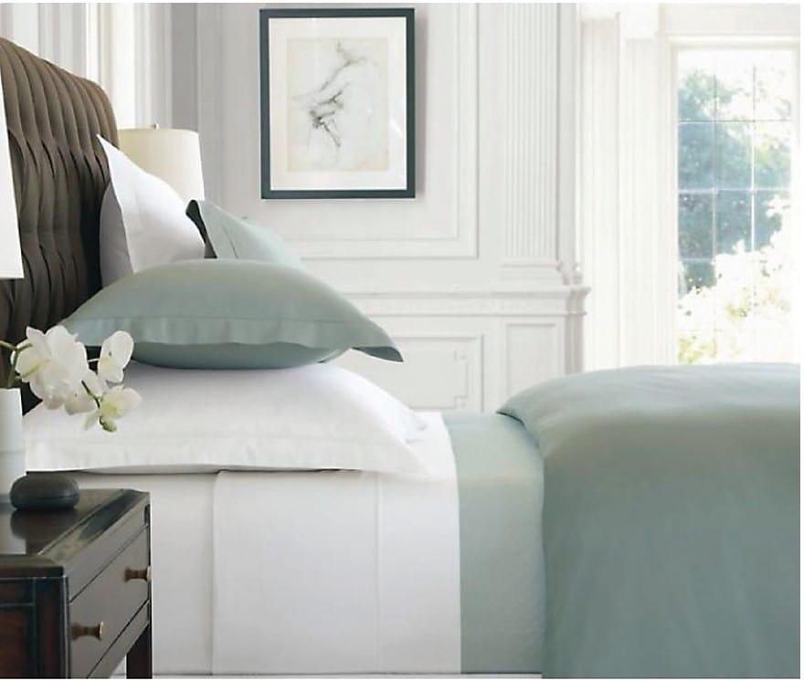Ensemble de draps à contexture de 300 fils pour grand lit - blanc