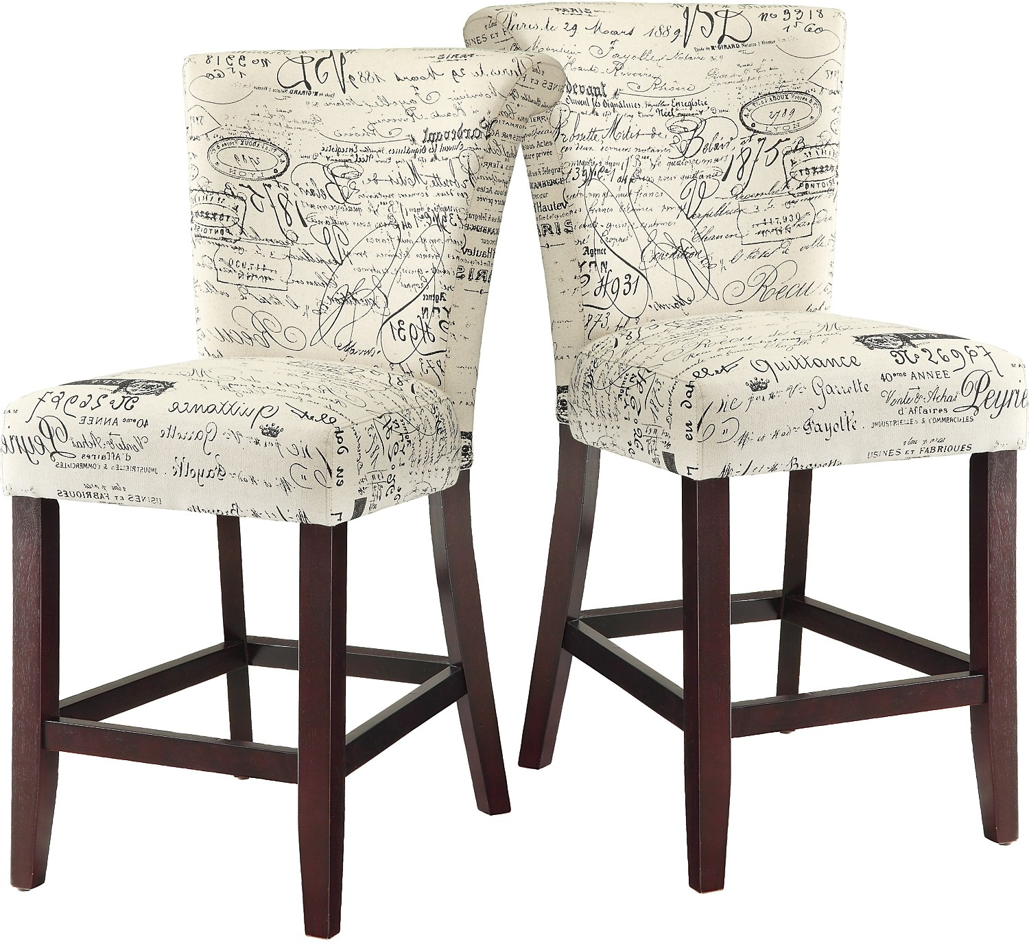 Script counter height chair set of 2 the brick for 2 dining room chairs