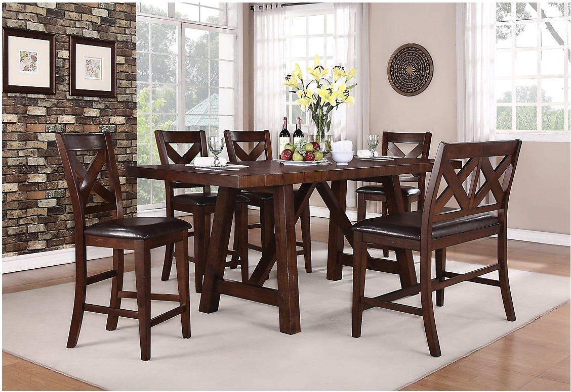 Dining Room Furniture - Adara 7-Piece Counter-Height Dining Package