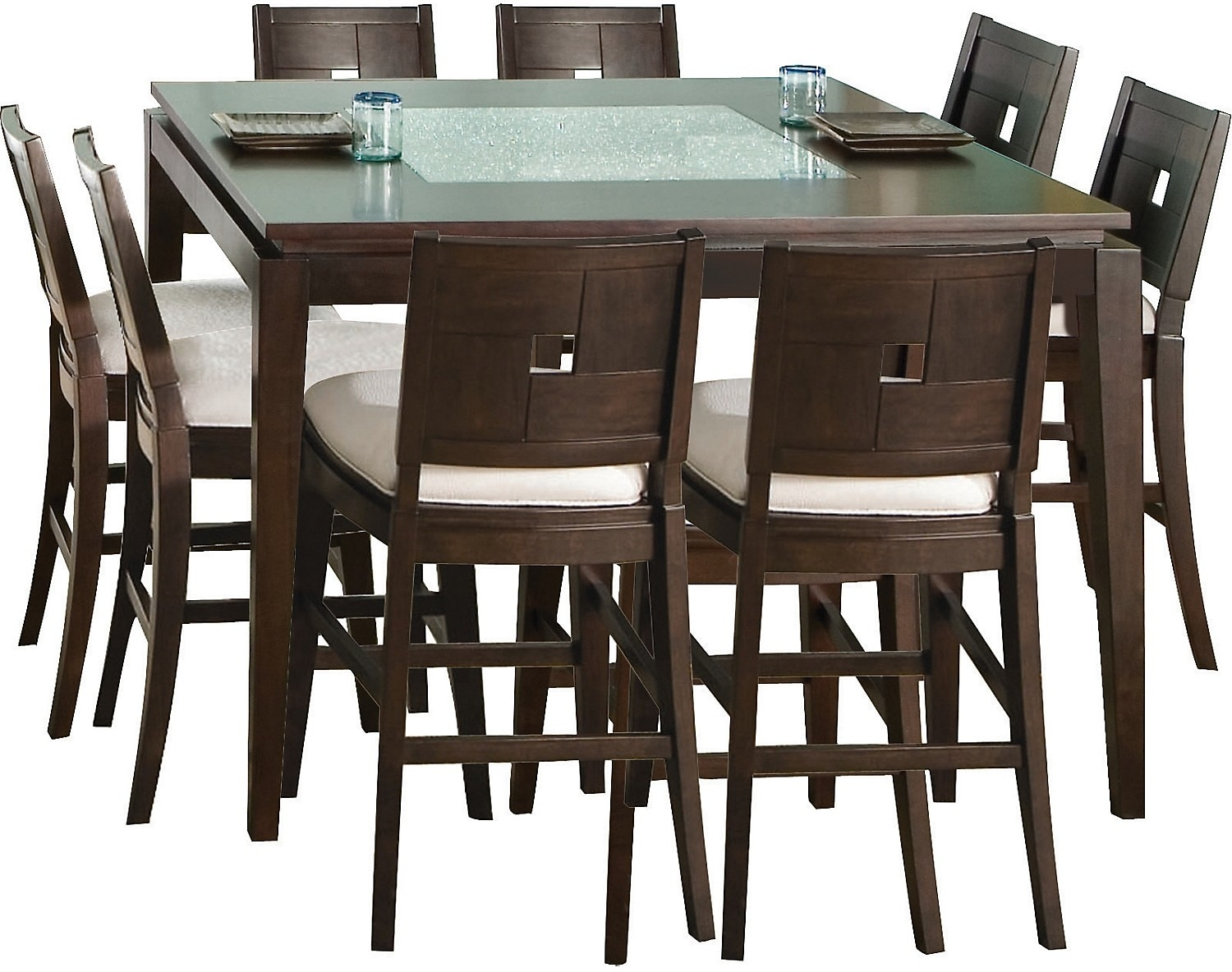 Dining Room Furniture - Spiga 9 Piece Counter-Height Dining Package