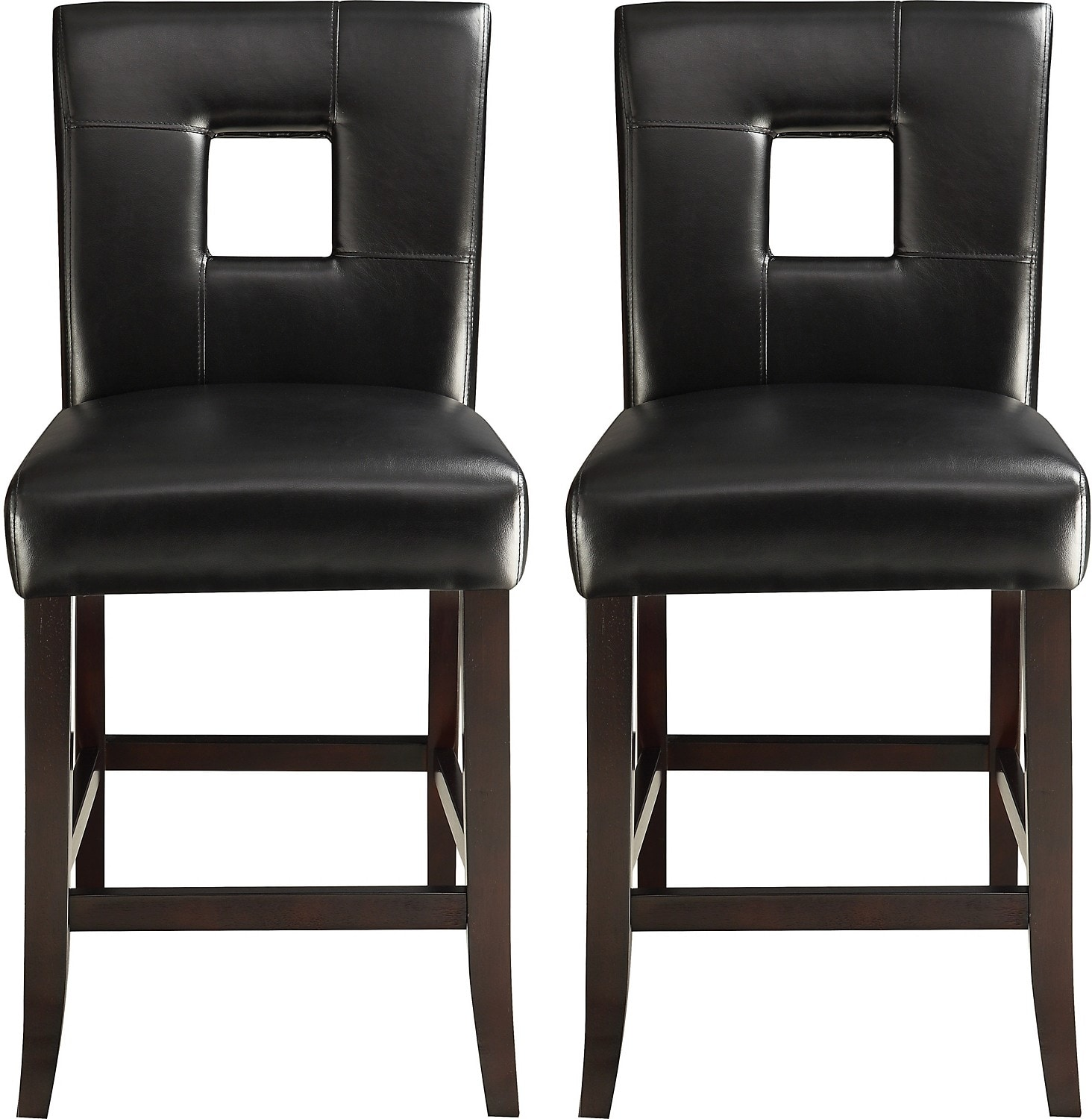 Dining Room Furniture - McKenna 2-Piece Counter-Height Dining Chair Package – Black