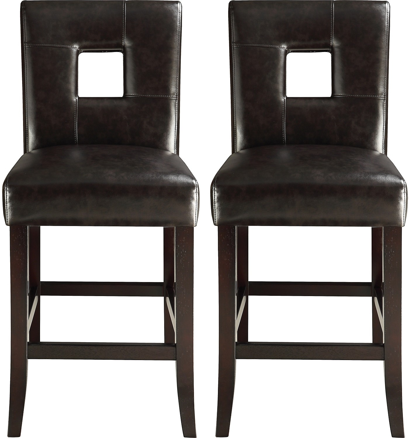 McKenna 2-Piece Counter-Height Dining Chair Package – Brown