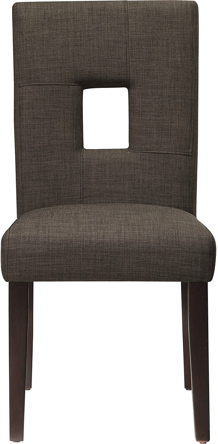 Dining Room Furniture - McKena Linen-Look Chair - Grey