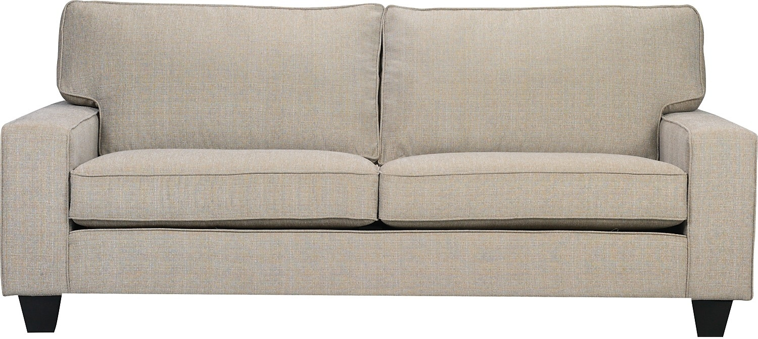 Designed2B Dax Linen-Look Fabric Sofa – Mist