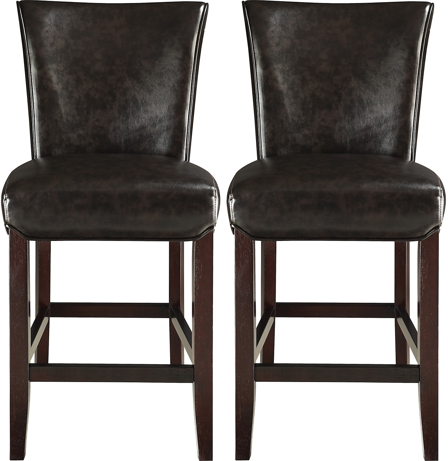 Dining Room Furniture - Brogan Counter-Height Dining Stool Set of 2 – Brown