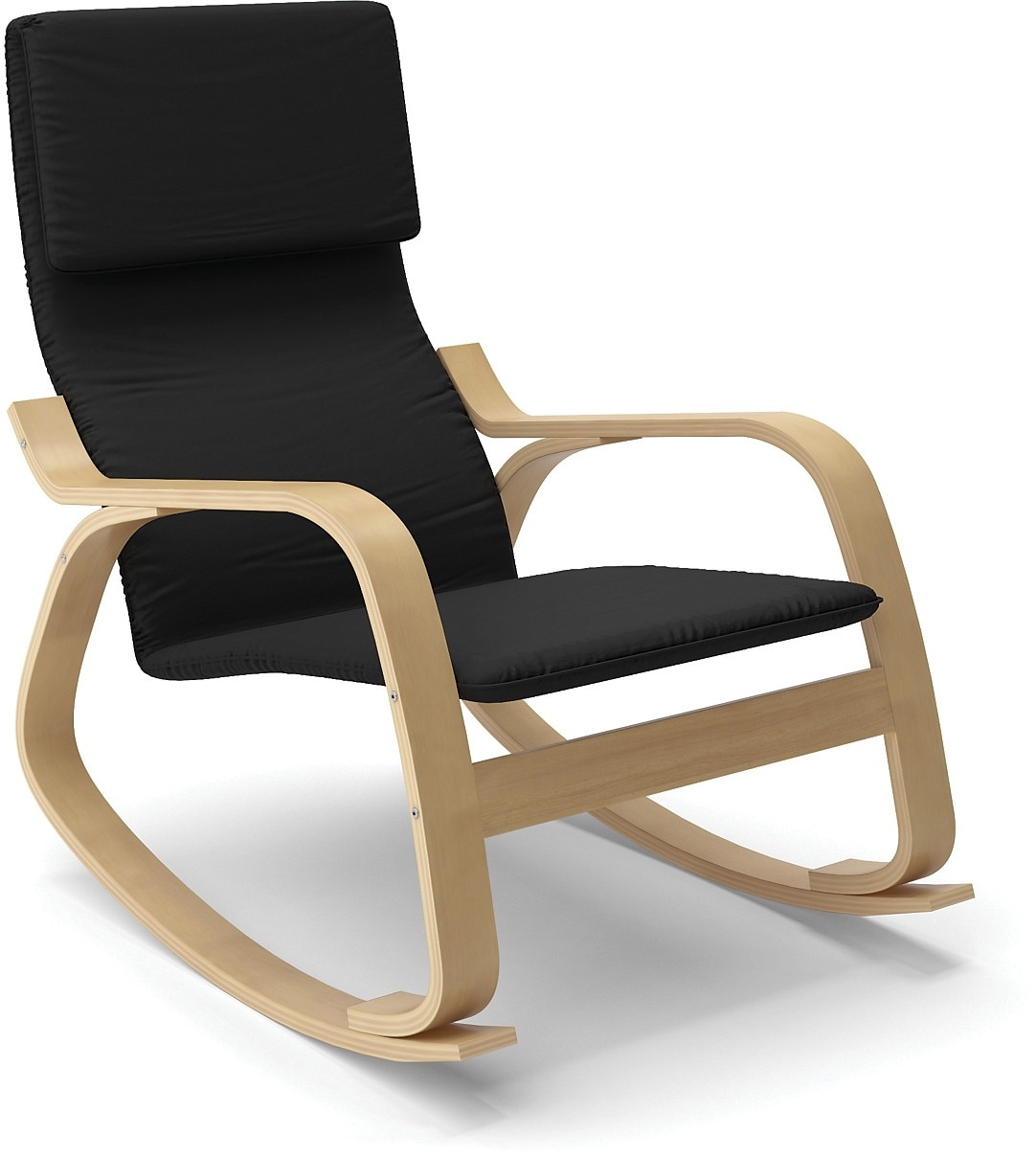 volo contemporary rocking chair – black  the brick -  contemporary rocking chair – black hover to zoom