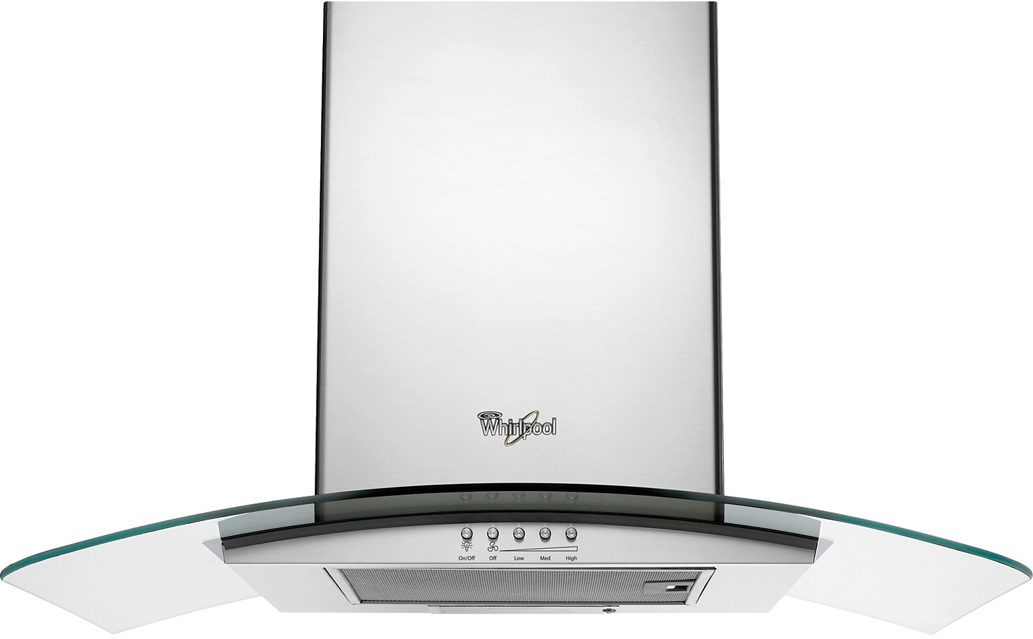 "Cooking Products - Whirlpool 36"" Wall-Mount Canopy-Style Range Hood - Stainless Steel"