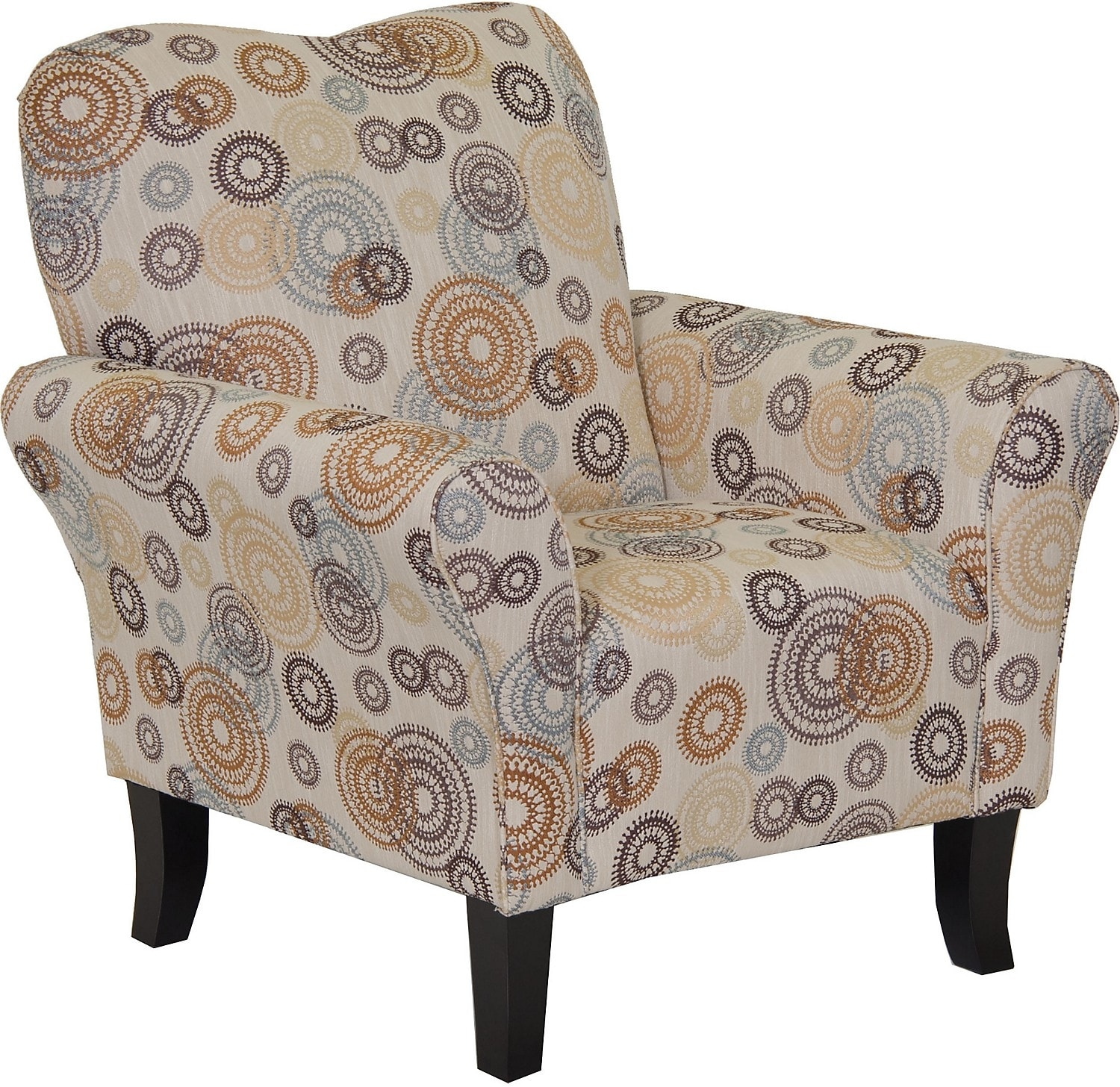 designed2b fabric accent chair with flared arms twinkle
