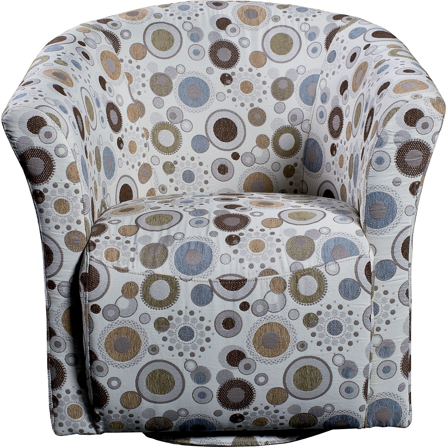 Sundial accent fabric swivel tub chair the brick for Fabric swivel armchairs for living room