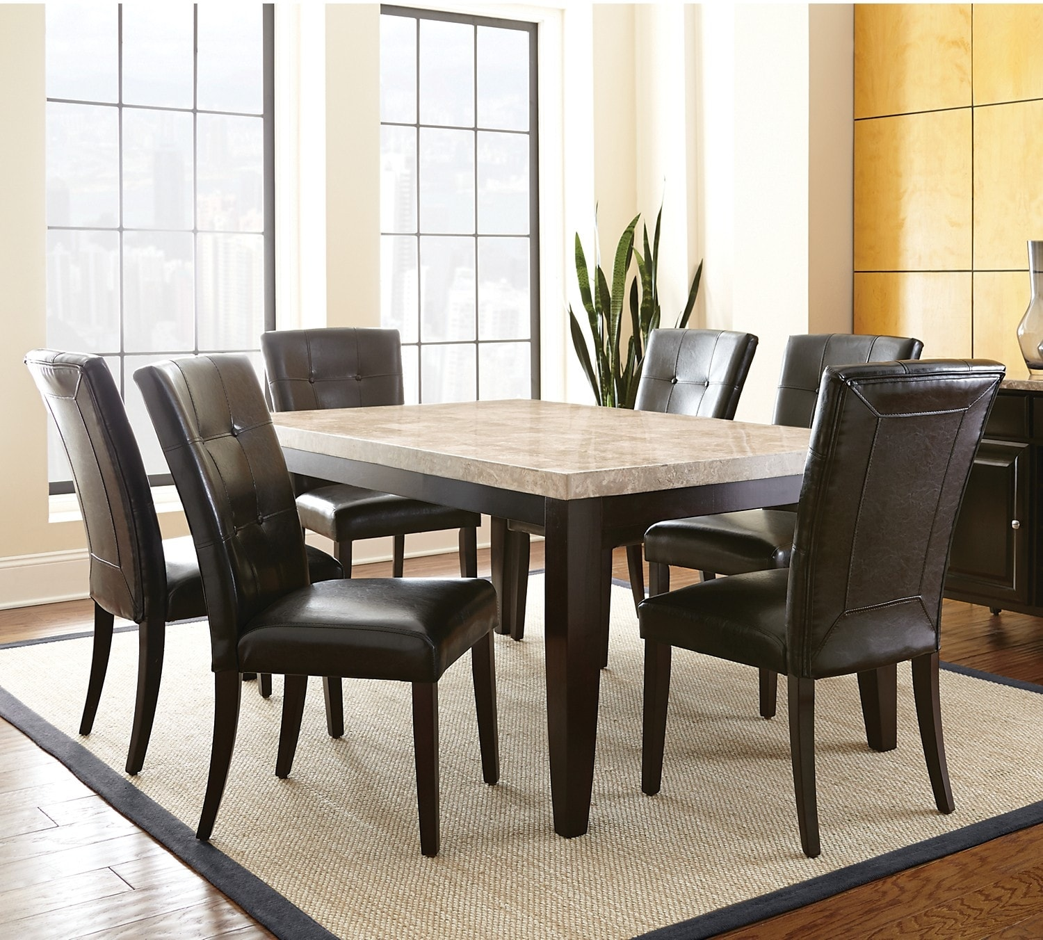 Dining Room Furniture - Montibello 5-Piece Dining Package