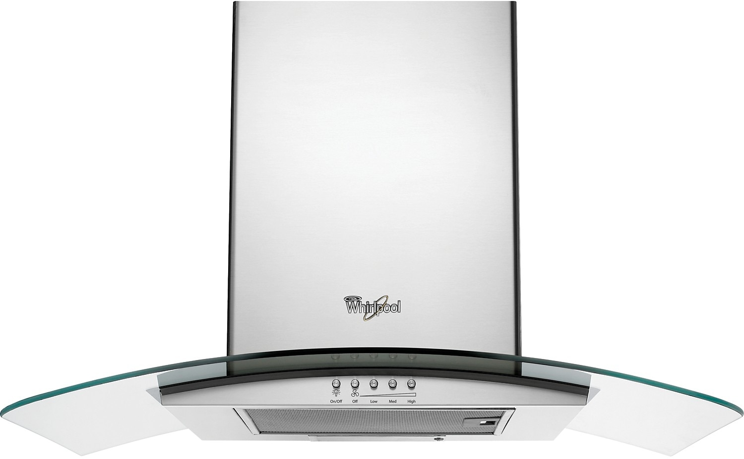 """Cooking Products - Whirlpool Gold® 30"""" Convertible Wall-Mount Glass Canopy Hood – Stainless Steel"""