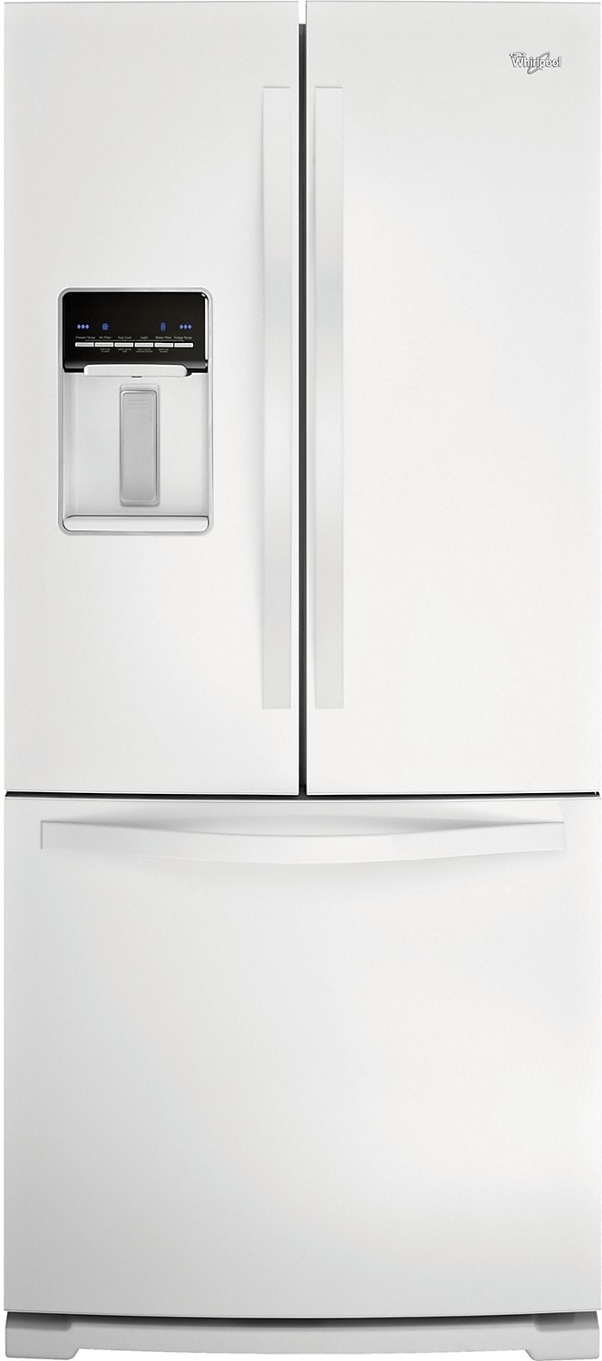 Refrigerators and Freezers - Whirlpool 20 Cu. Ft. French-Door Refrigerator w/External Dispenser- White