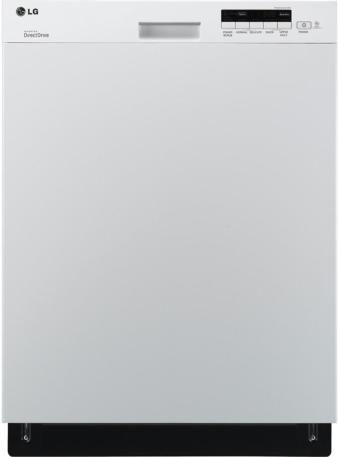 Clean-Up - LG Semi-Integrated Dishwasher with Flexible EasyRack System - White