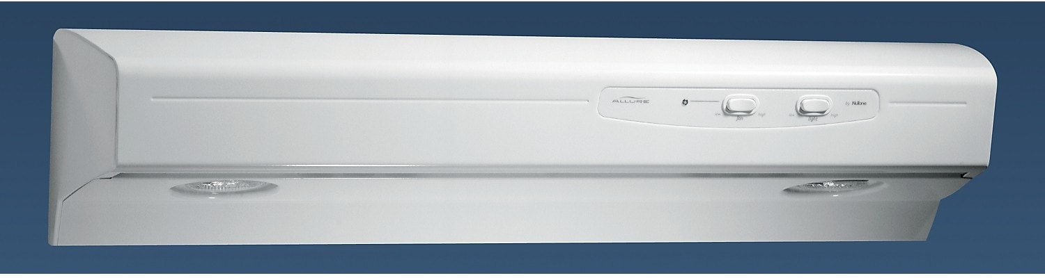 Appliance Accessories - NuTone Allure® I 220 CFM Range Hood - White